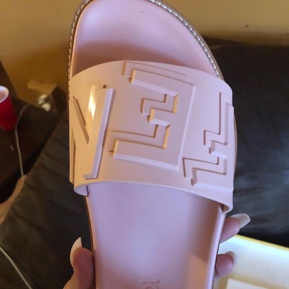 fendi shoes light pink slides poshmark